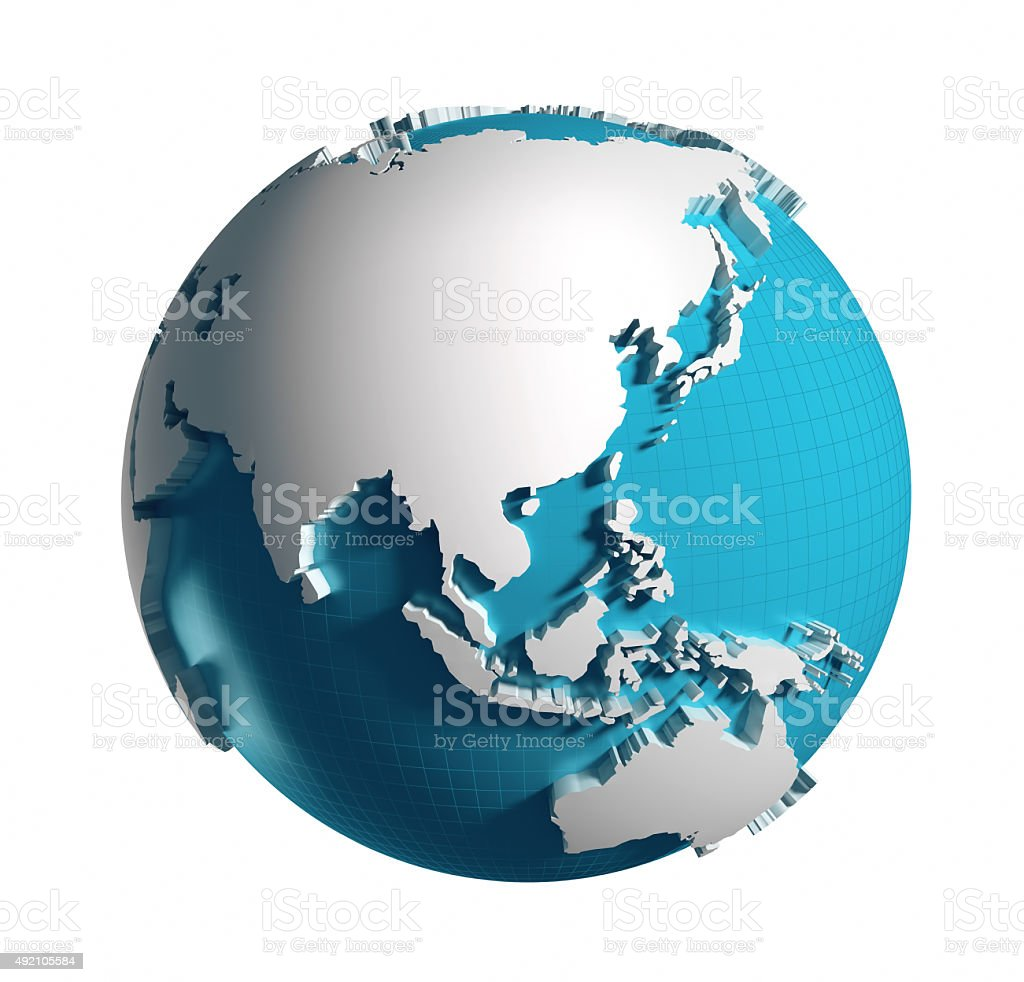 Globe of the World. stock photo