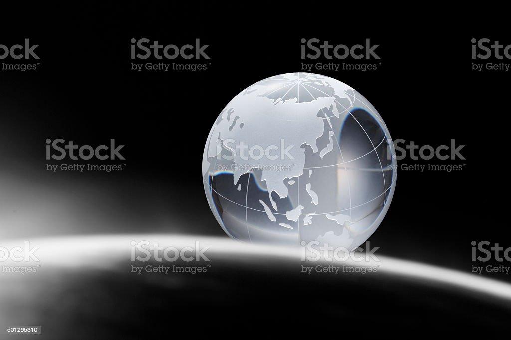Globe of the World.Asia stock photo