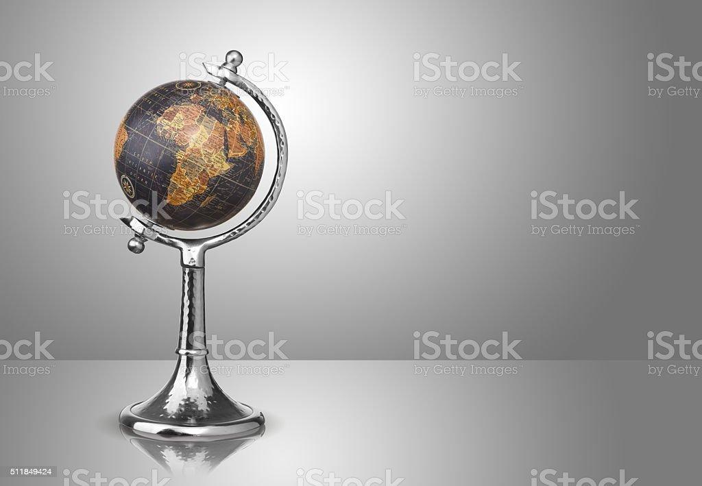 globe on gray stock photo