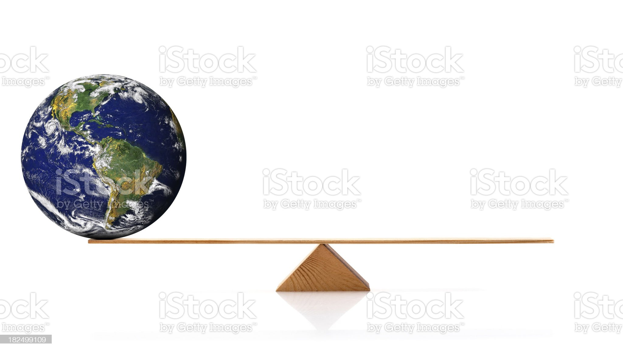 Globe on scale royalty-free stock photo