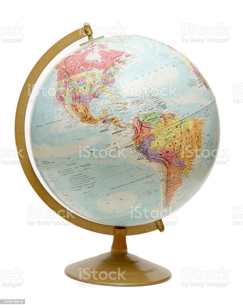Globe on the Americas stock photo