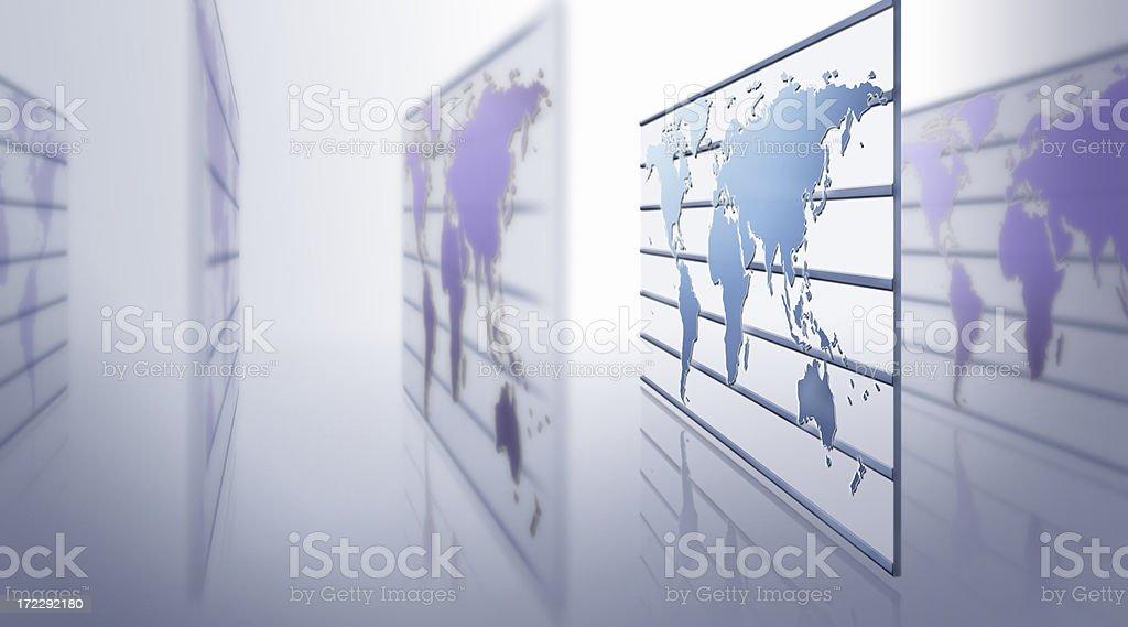 Globe on wall royalty-free stock photo