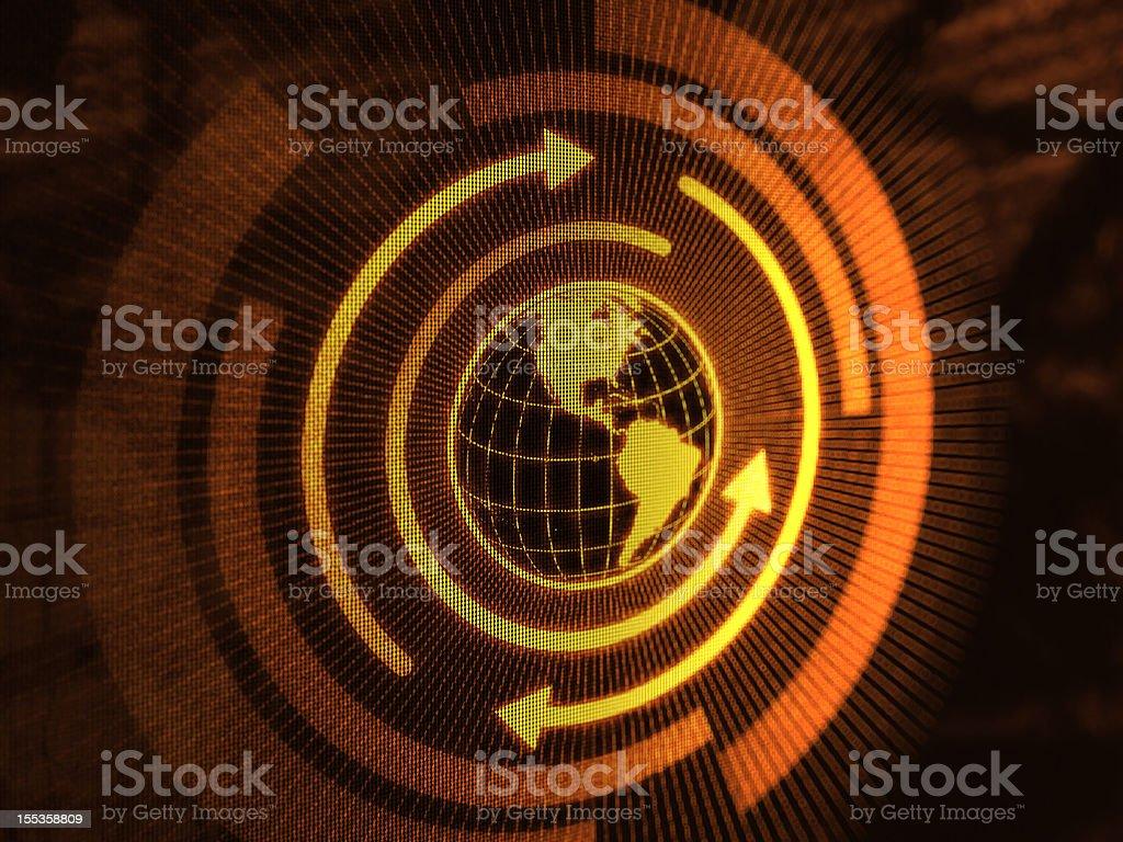 Globe (Gold) royalty-free stock photo