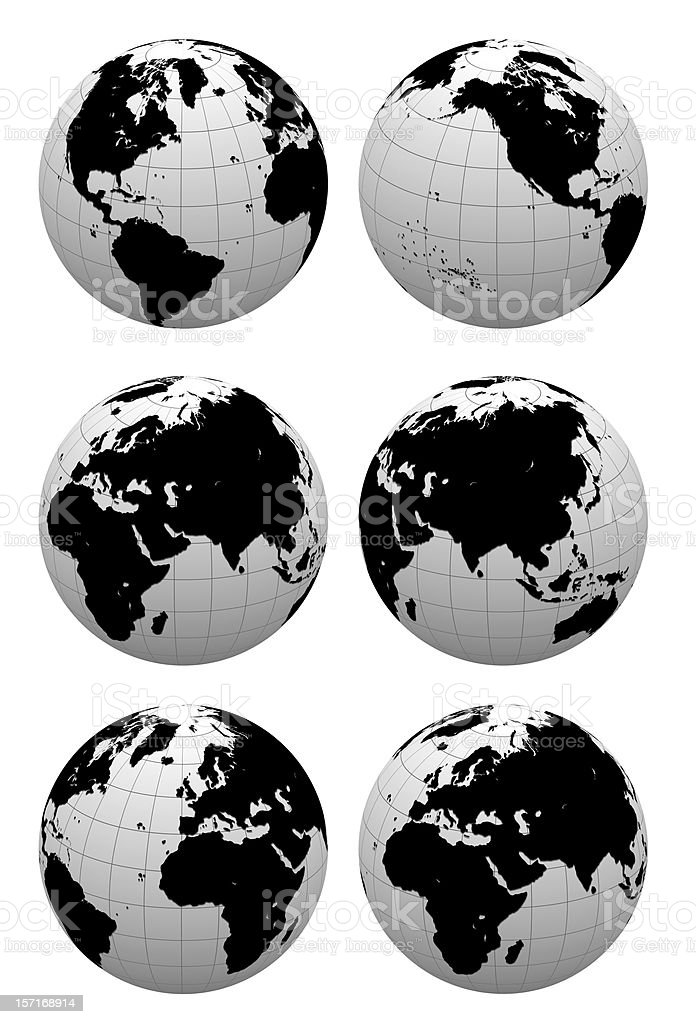 3D Globe  ( include clipping path ) royalty-free stock photo