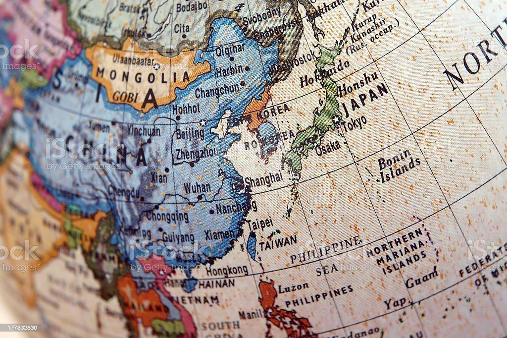 Globe (East Asia) stock photo