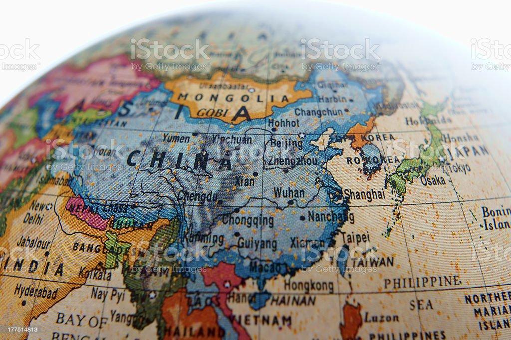 Globe (Asia) stock photo