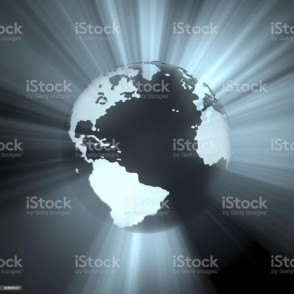 Globe (Light and Silhouette) stock photo