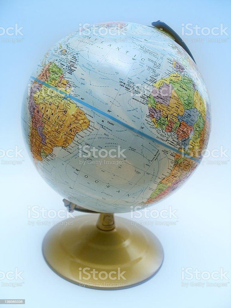 Globe Profile royalty-free stock photo