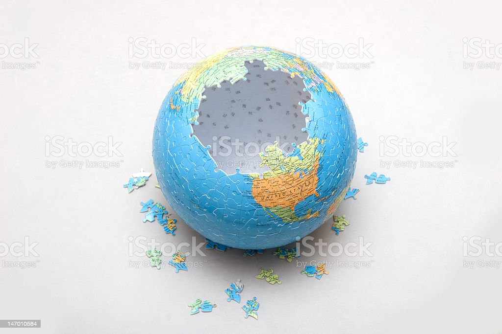 globe puzzle royalty-free stock photo