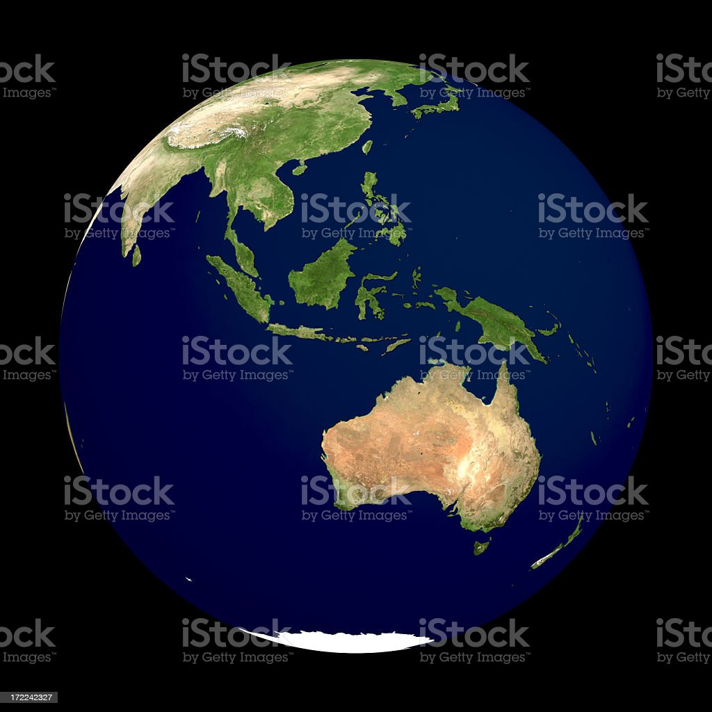 Globe Series: Physical I - Oceania (with Clipping Path) stock photo