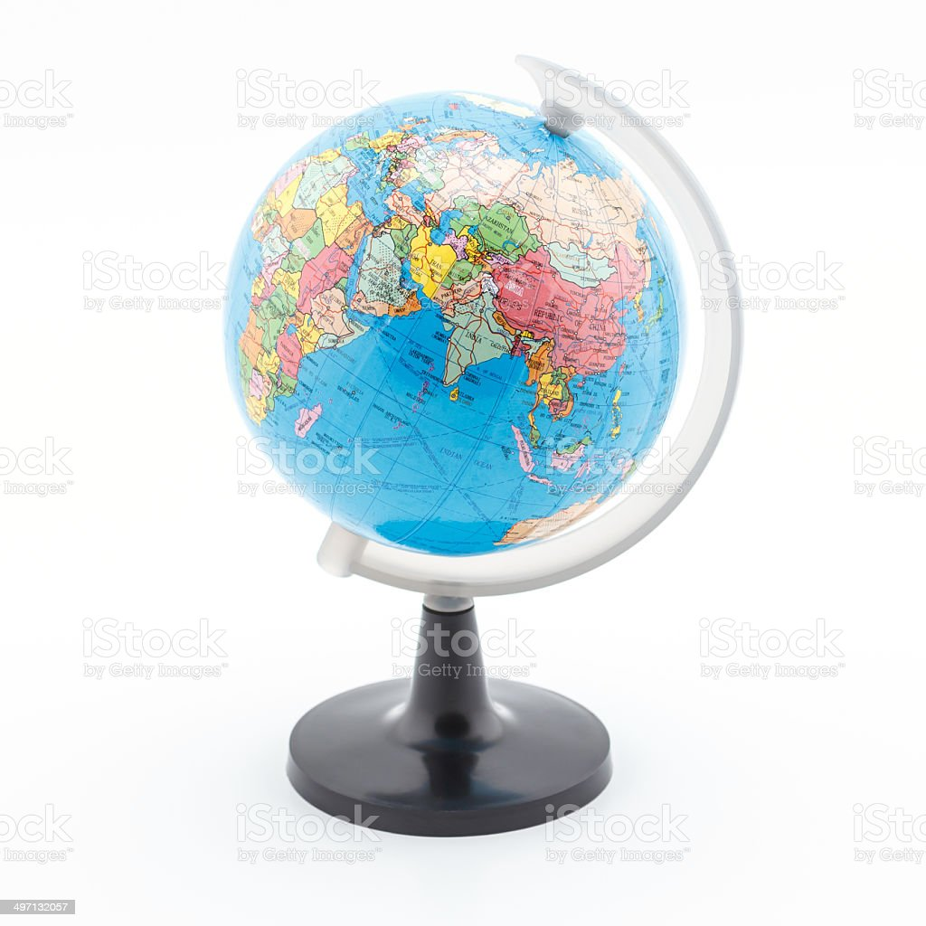 Globe simulation model. stock photo