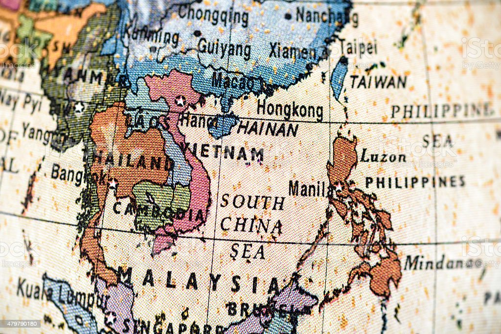 Globe Southeast Asia stock photo