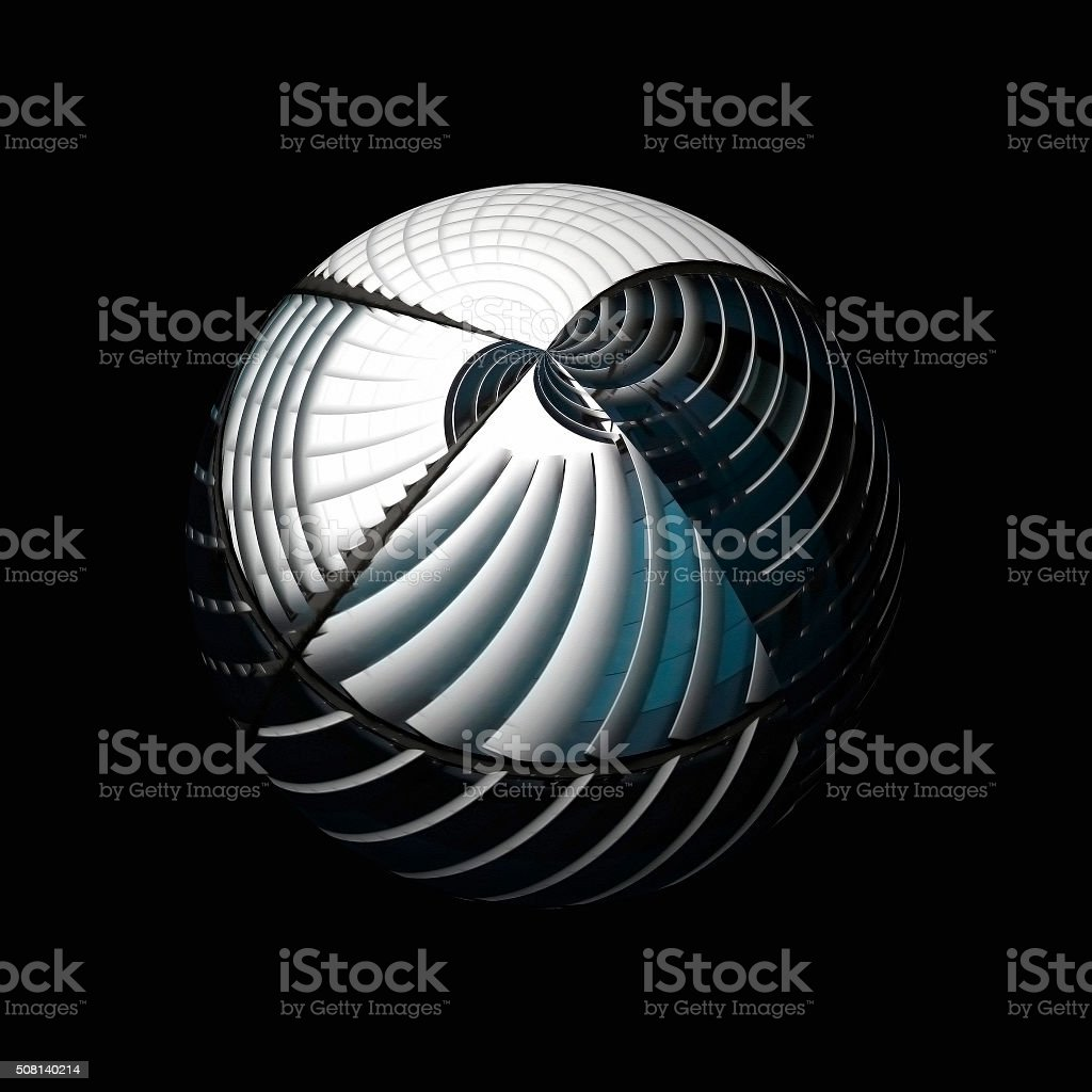 Globe / sphere depicted in hi-tech manner. Globalization. Time zones. stock photo