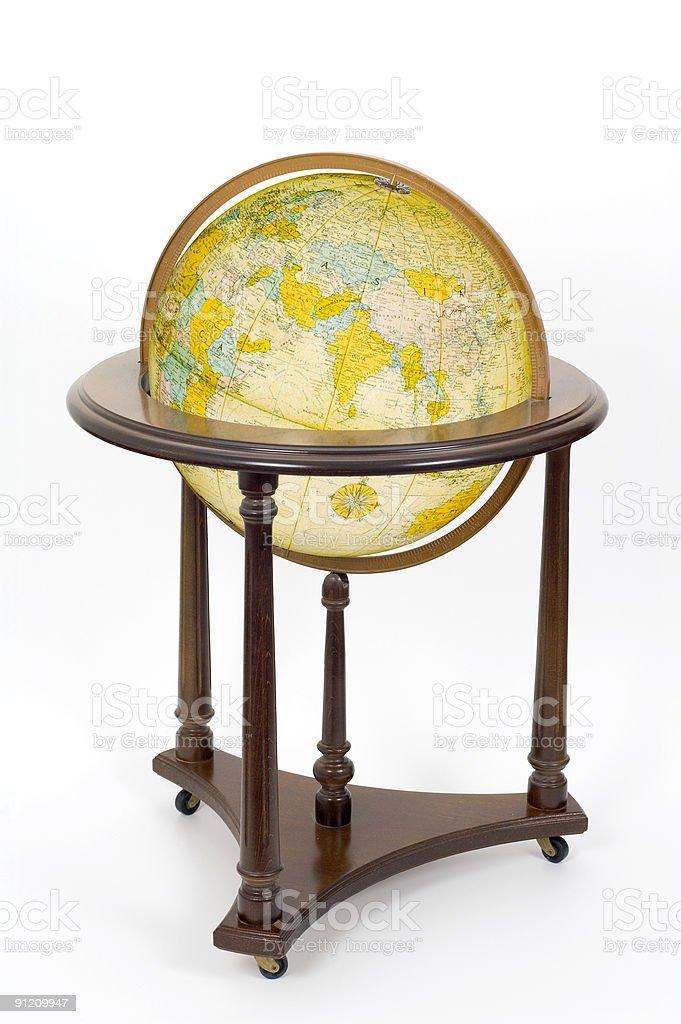 Globe & Stand: Eastern Hemisphere stock photo