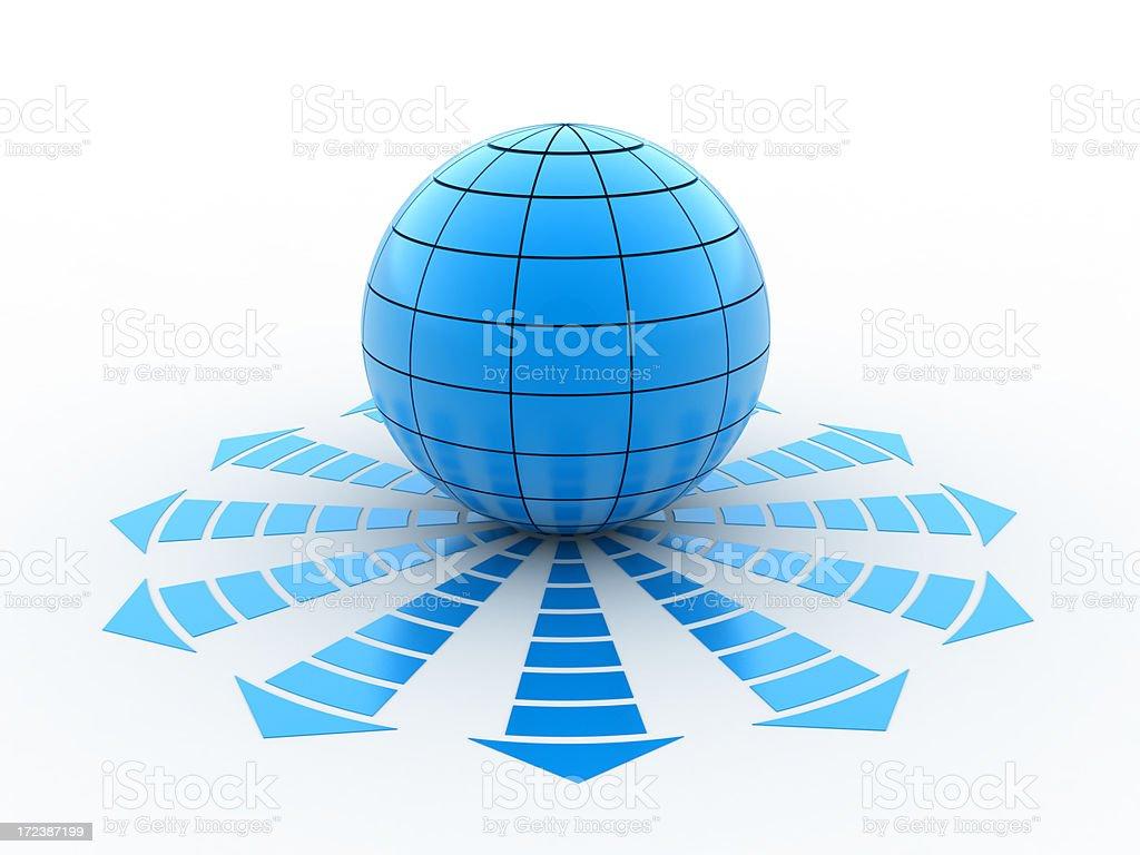 globe symbol stock photo