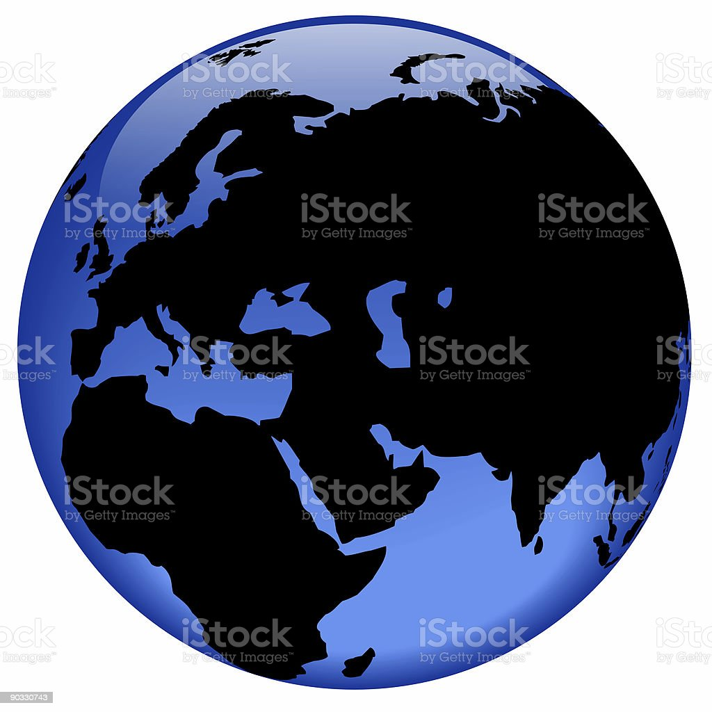 Globe view - Middle East royalty-free stock photo