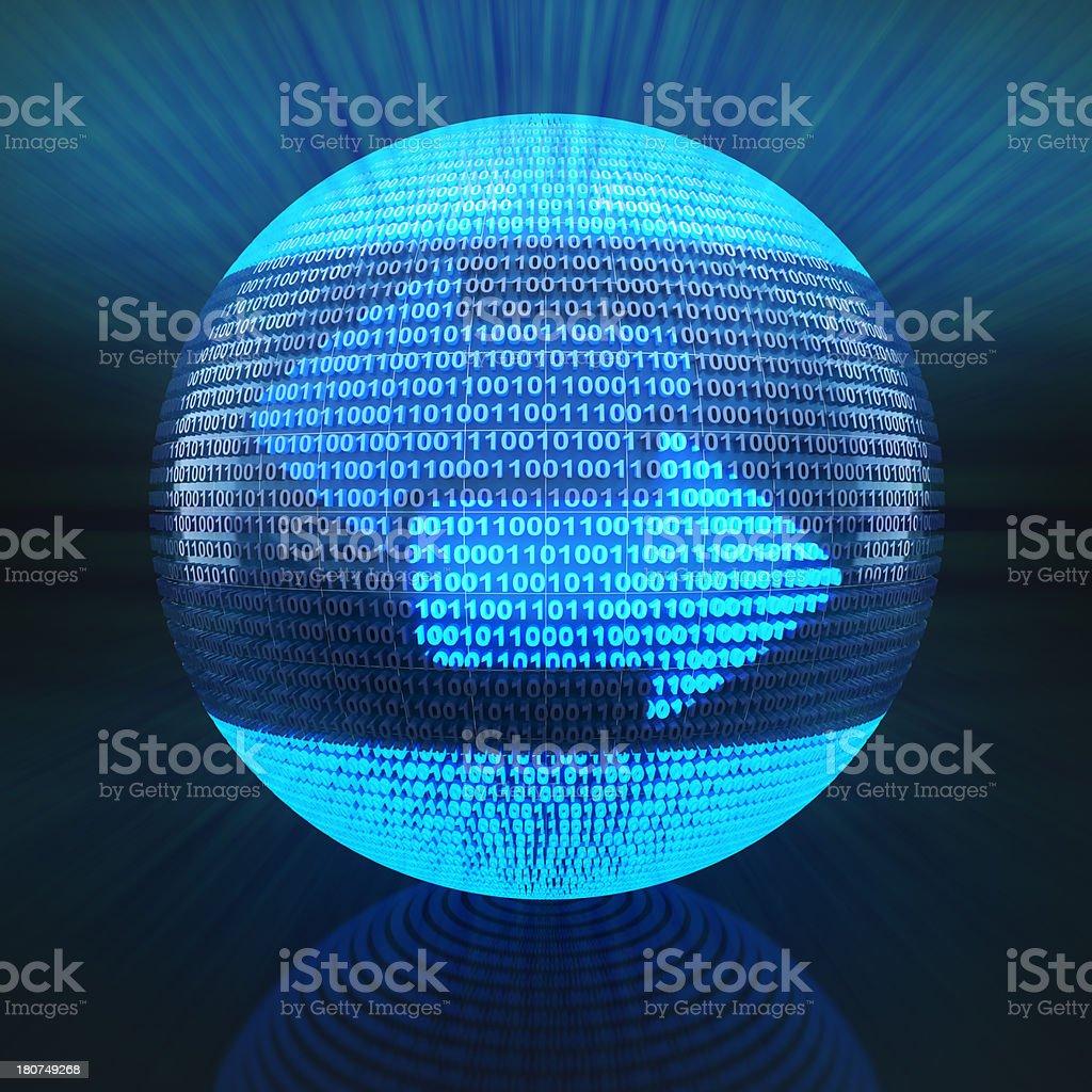 Globe with bidirectional arrows signifying exchange stock photo