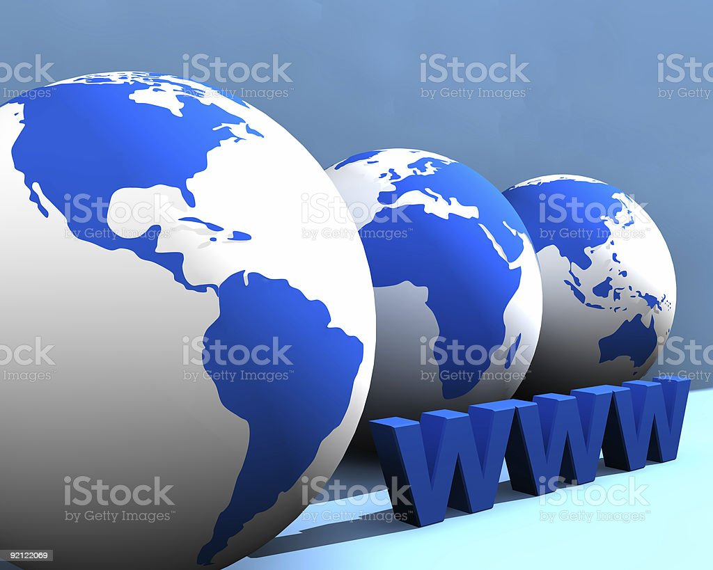Globe With WWW royalty-free stock photo