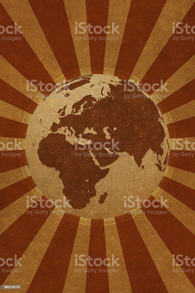 Globe World (Europe Asia  Africa) royalty-free stock photo