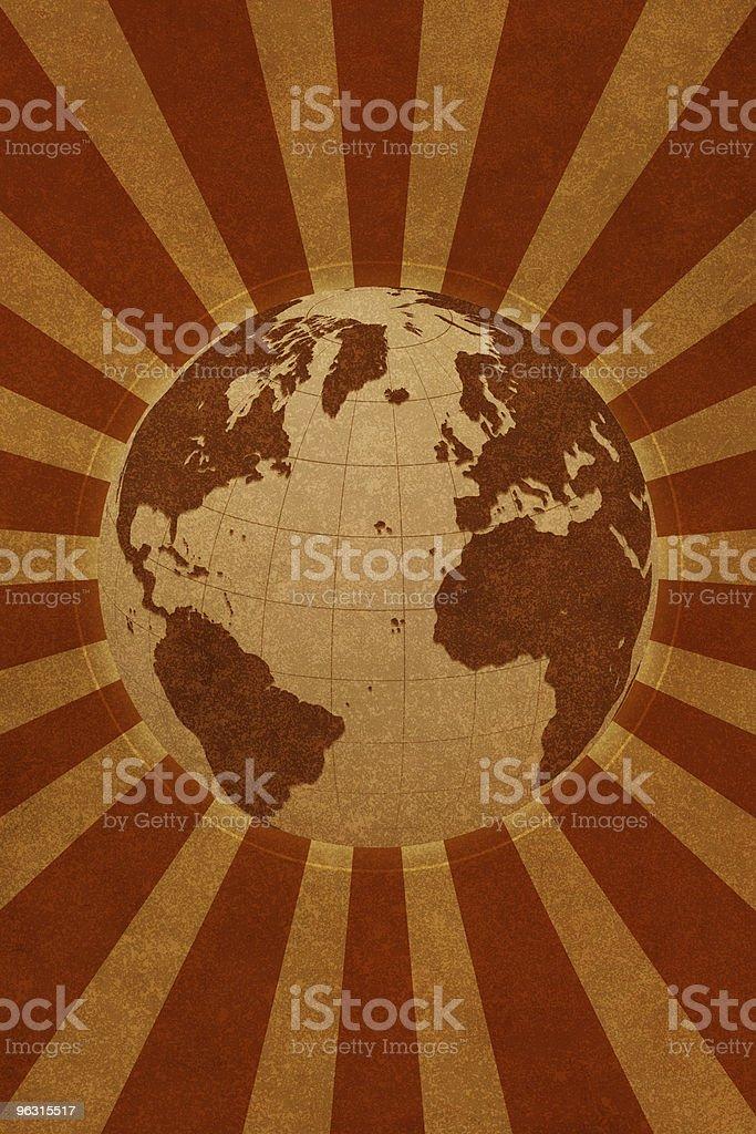 Globe World (Europe Asia  Africa) stock photo