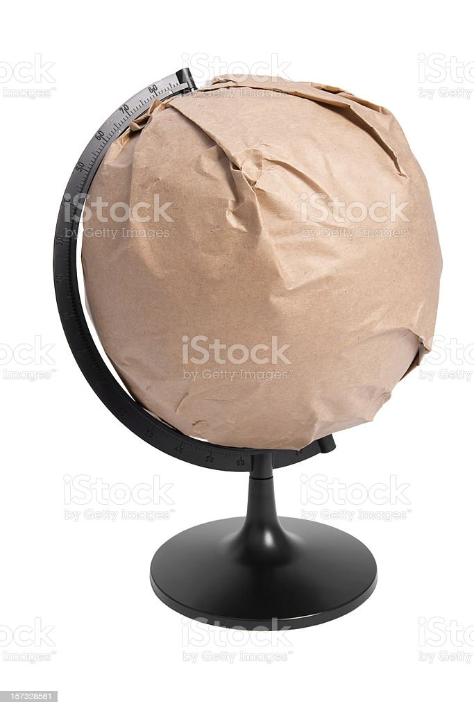 Globe wrapped stock photo