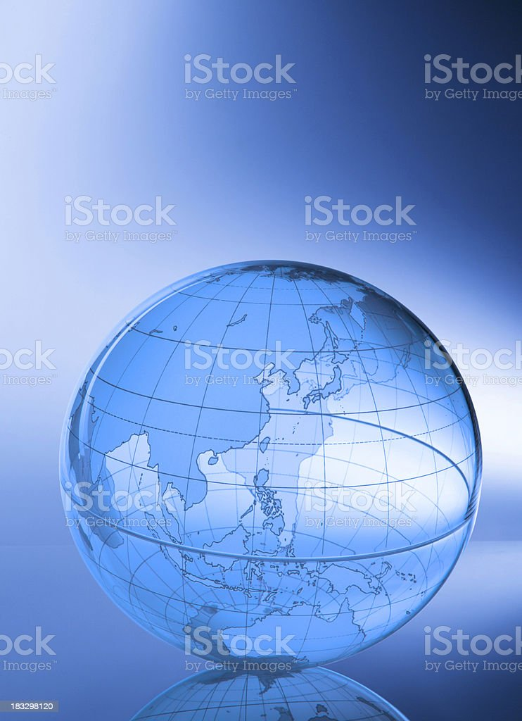Globe-Asia & Western Pacific royalty-free stock photo