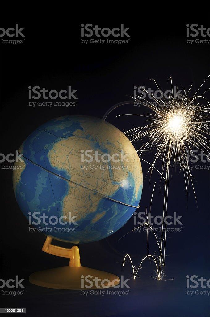 Globe-bomb! royalty-free stock photo