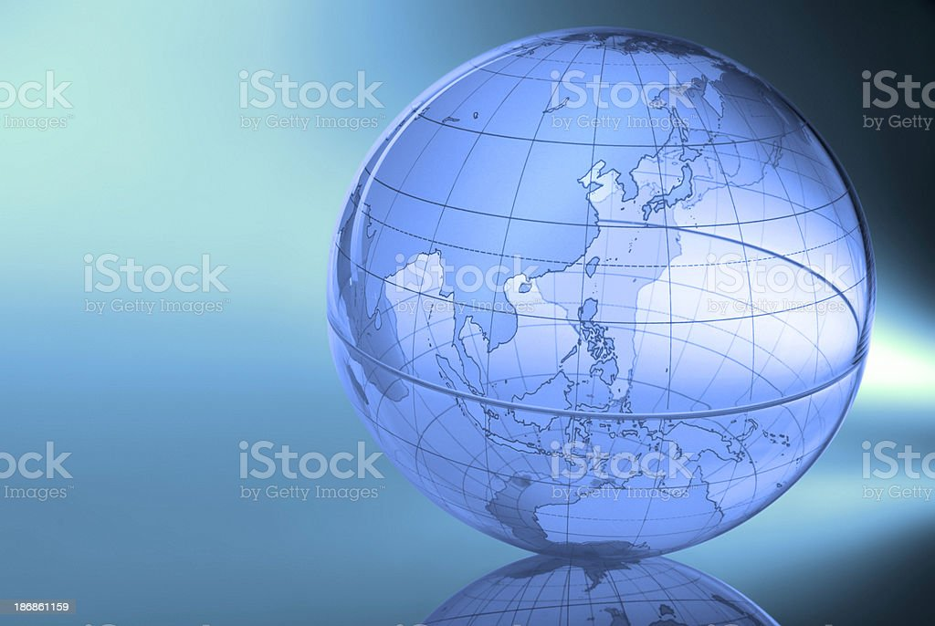 Globe-Eastern Asia & Western Pacific royalty-free stock photo