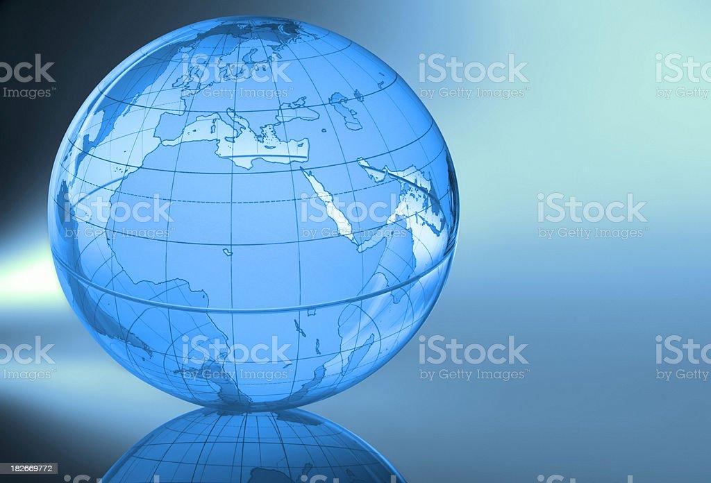 Globe-Europe & Africa royalty-free stock photo