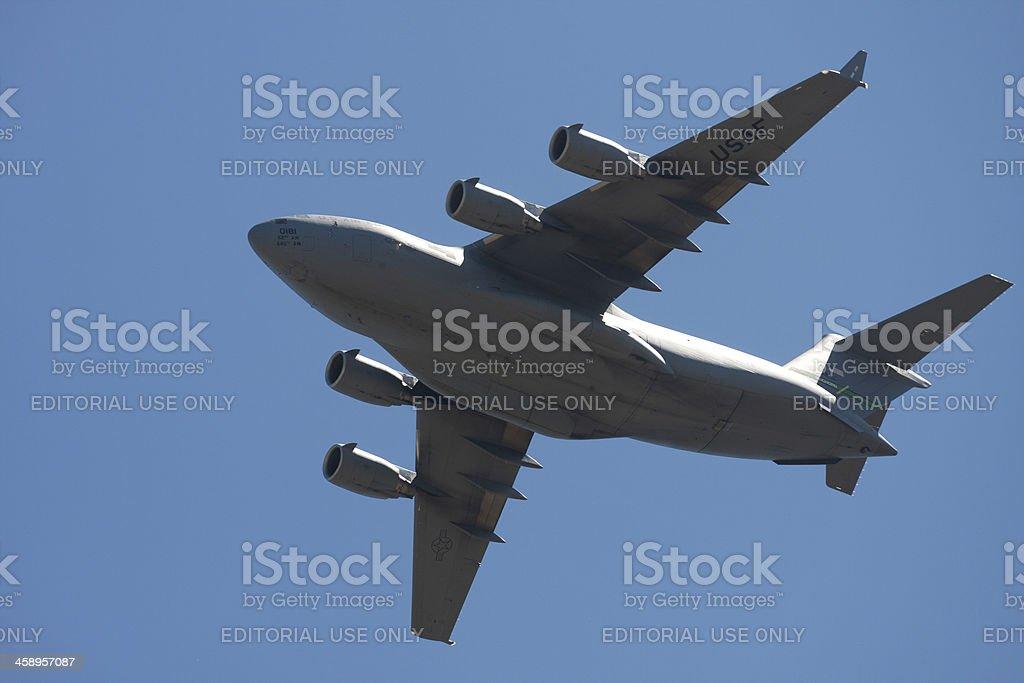 "C-17 ""Globemaster III"" In Flight royalty-free stock photo"