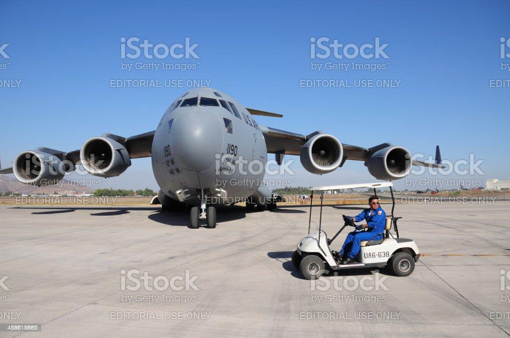 C-17 Globemaster royalty-free stock photo