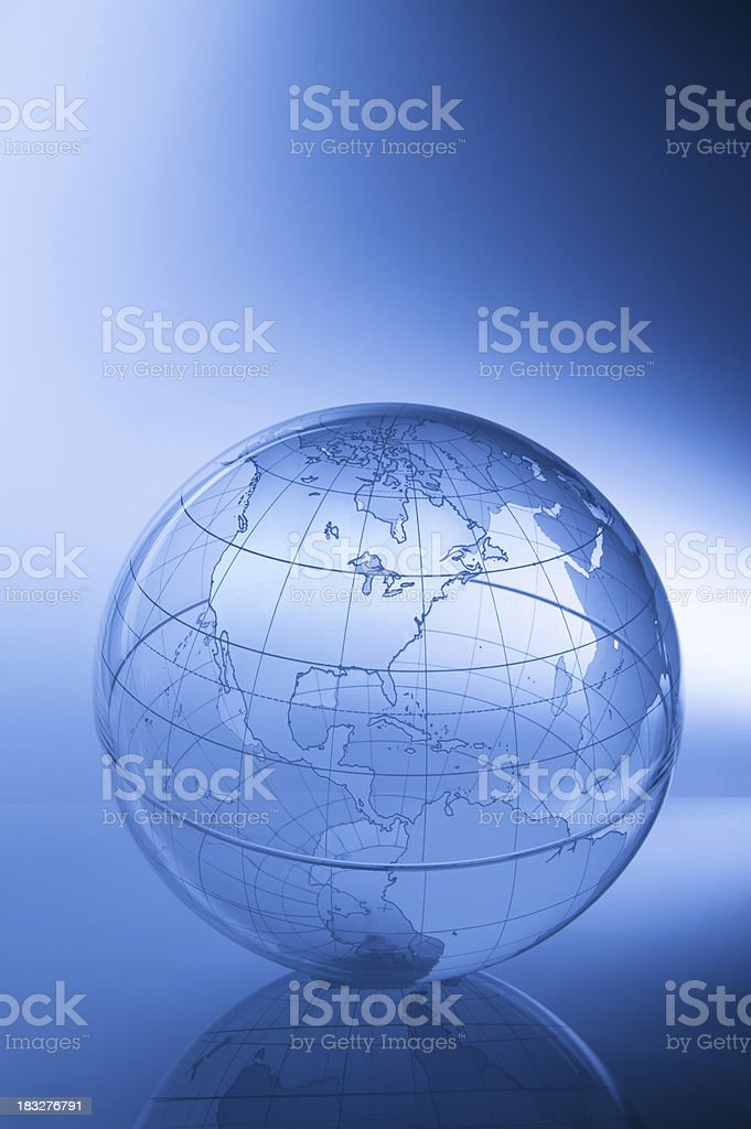 Globe-North America royalty-free stock photo