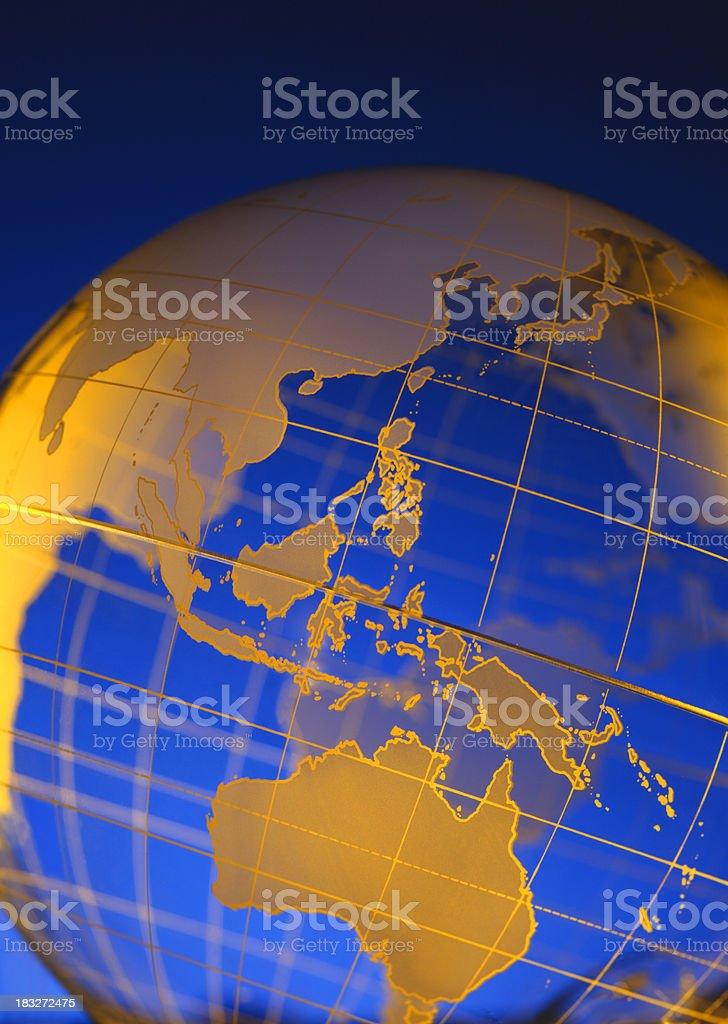 Globe-Southeast Asia & Australia royalty-free stock photo