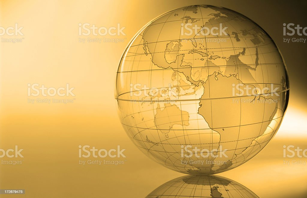 Globe-The Americas royalty-free stock photo