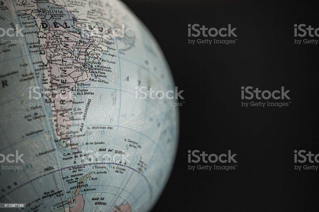 globo terráqueo, américa del sur stock photo
