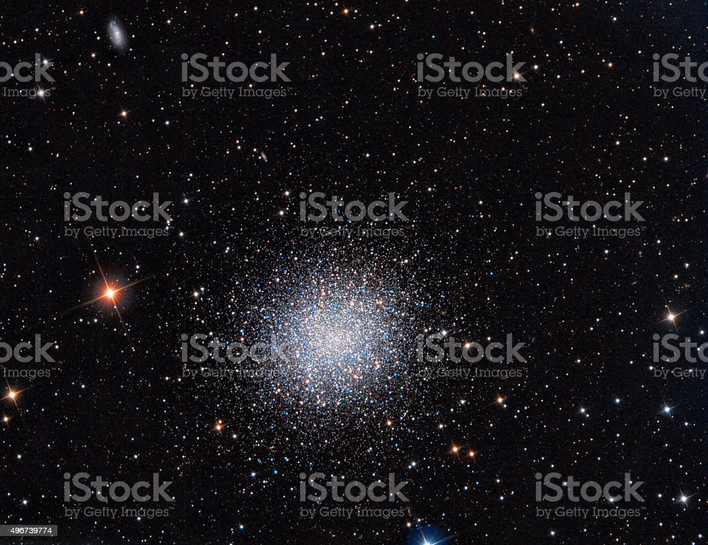 M13 Globular Cluster in constellation Hercules stock photo
