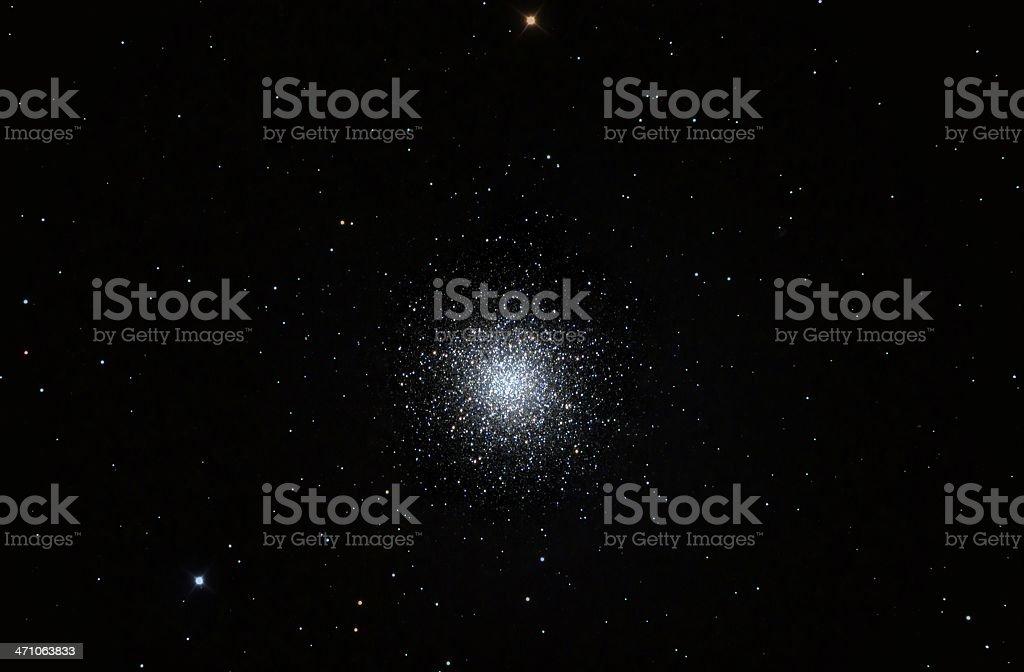 Globular Star Cluster in Hercules stock photo