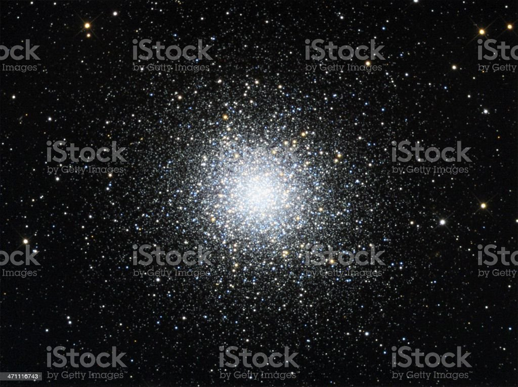 Globular Star Cluster in Hercules stock photo