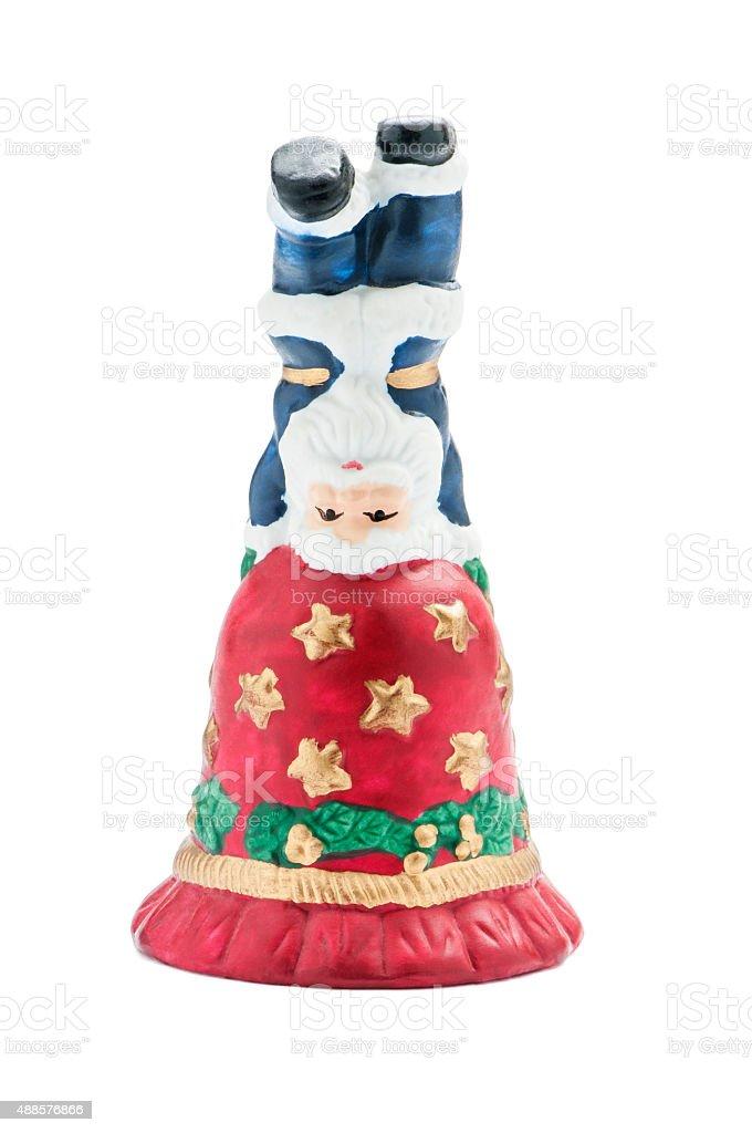 Glocke mit Weihnachtsmann stock photo