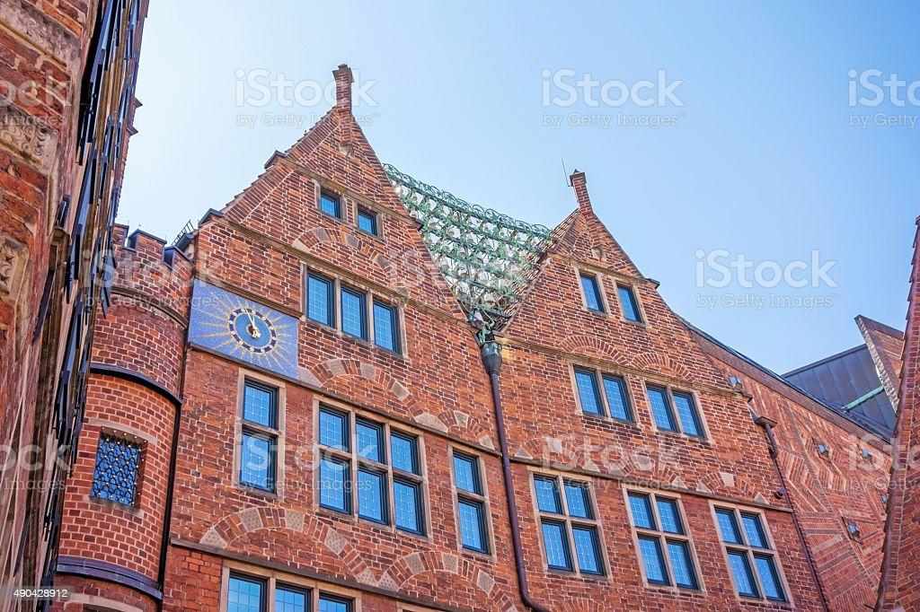 Glockenspiel at Boettcher street, Bremen stock photo