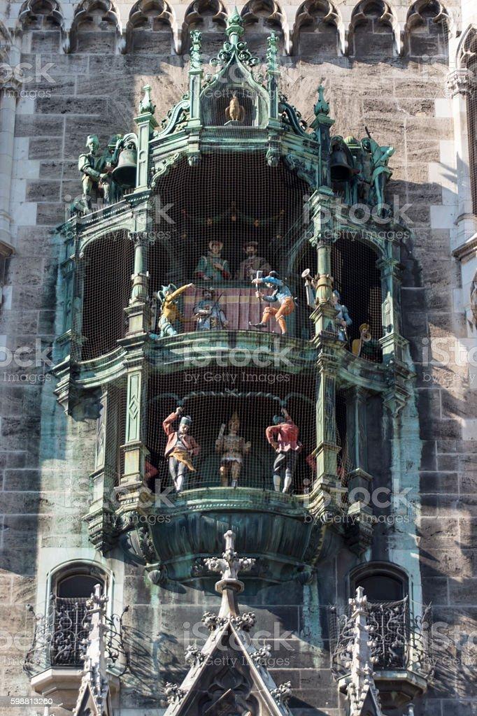 Glockenspiel at Marienplatz, Munich, 2015 stock photo
