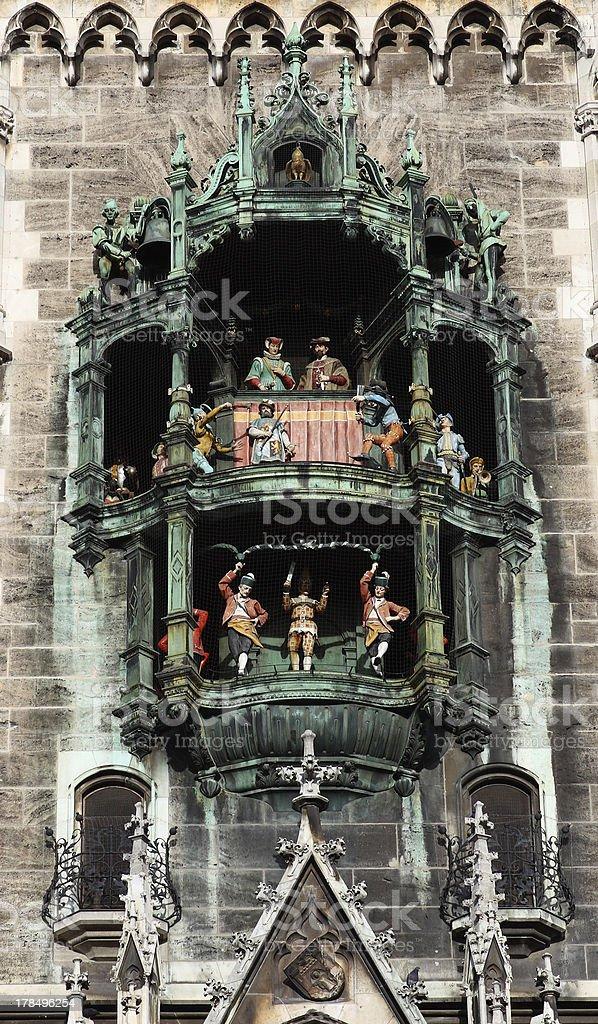 Glockenspiel at Marienplatz stock photo