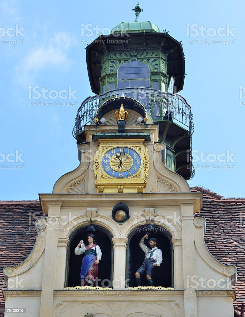 Glockenspiel Clock in Graz / Austria stock photo