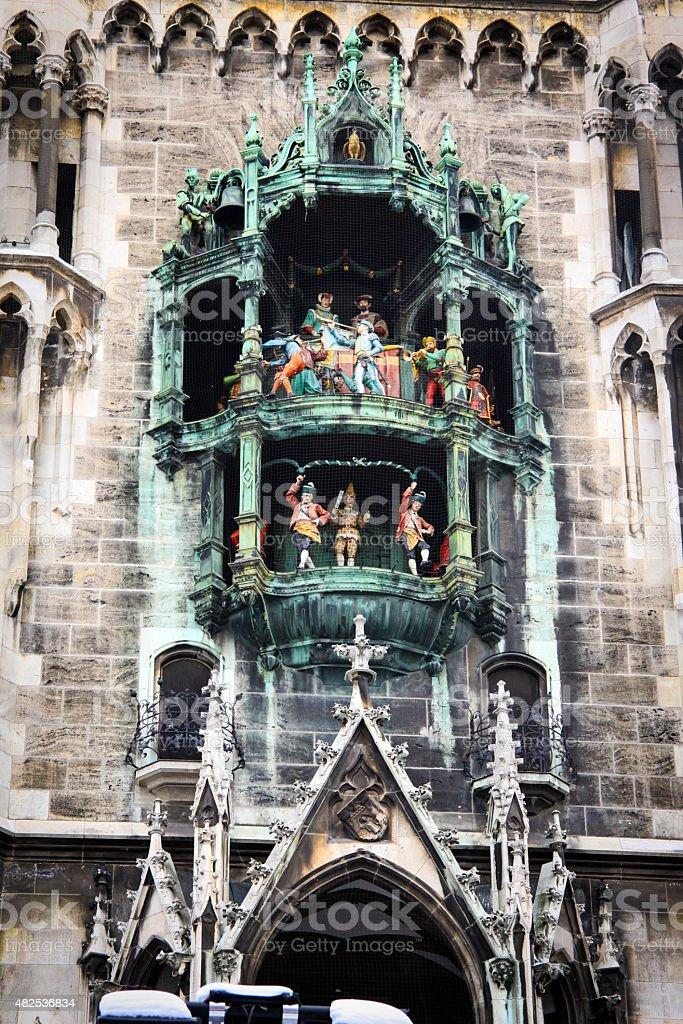 Glockenspiel in Munich, Germany stock photo