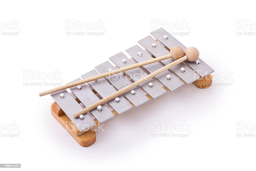 Glockenspiel isolated on white stock photo