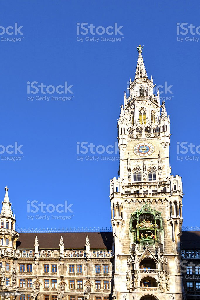 Glockenspiel on the Munich city hall royalty-free stock photo