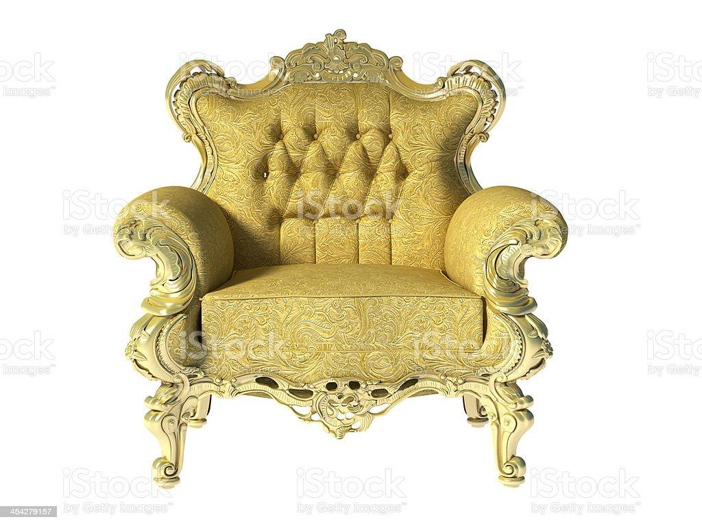 Glod classic luxury chair stock photo