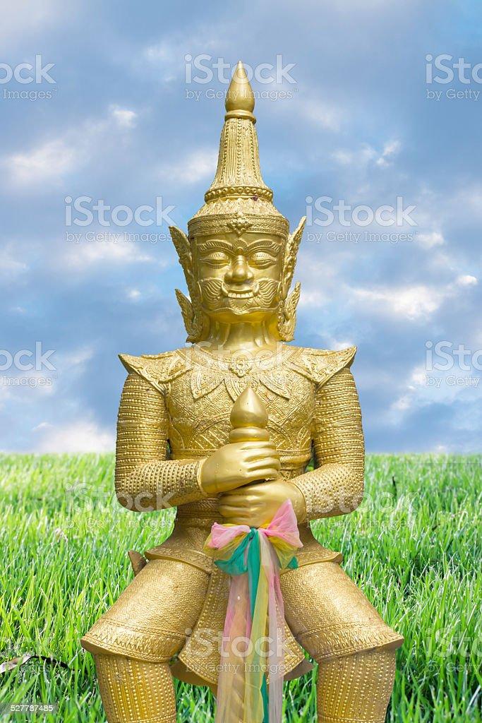 Gloden buddhistische Titan Lizenzfreies stock-foto