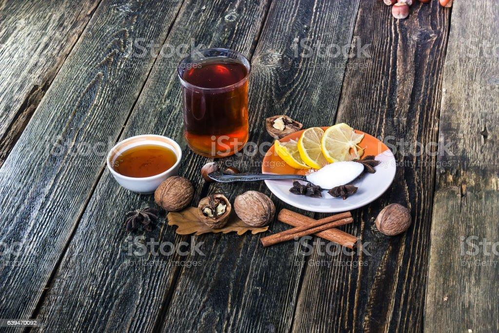 Glogg, scandinavian mulled wine stock photo