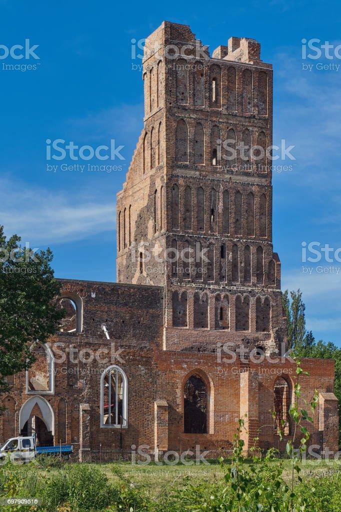 Glogow, Poland, Church of Santa Claus, ruins stock photo